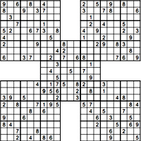 image relating to Printable Sudoku Pdf identified as Printable Samurai Sudoku -