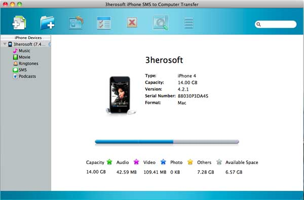 3herosoft iPhone SMS to Computer Transfer for Mac