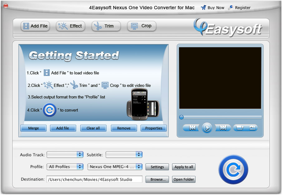 4Easysoft Nexus One Video Converter for Mac