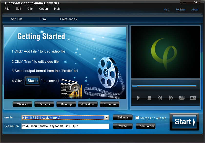 4Easysoft Video to Audio Converter