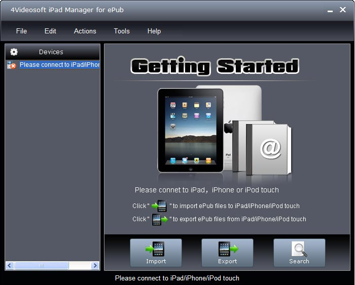 4Videosoft iPad Manager for ePub