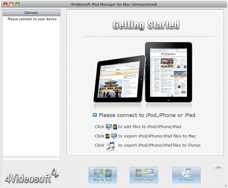 4Videosoft iPad Manager for Mac