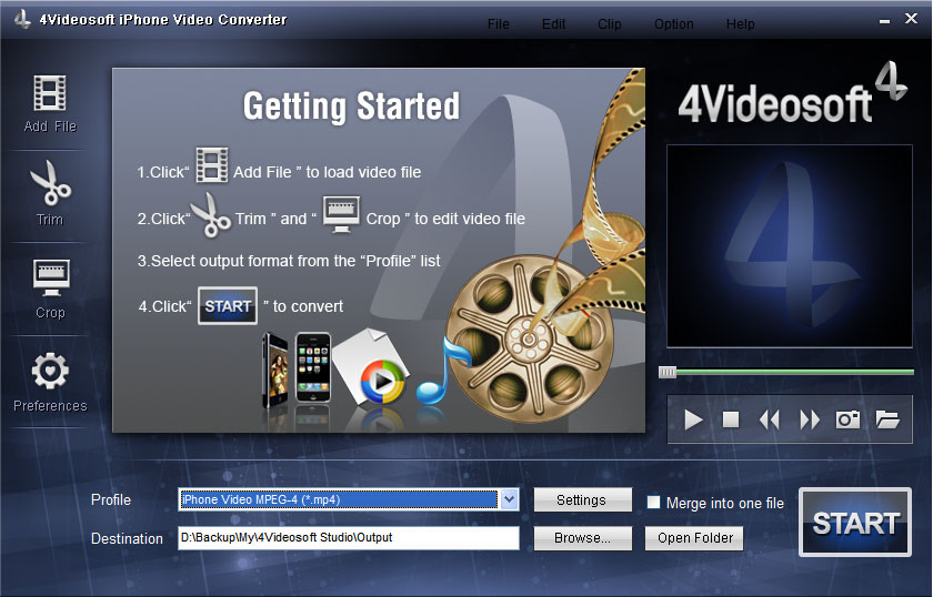 4Videosoft iPhone Video Converter