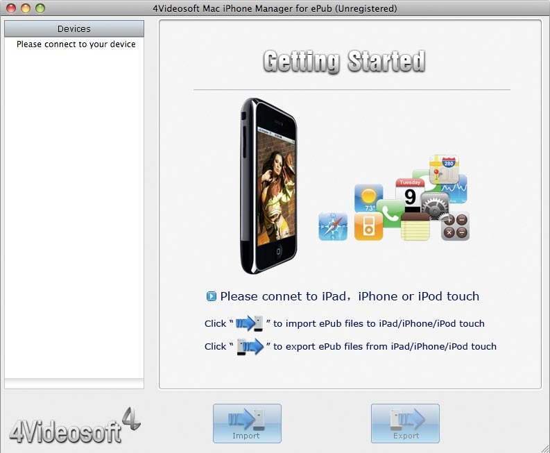 4Videosoft Mac iPhone Manager for ePub