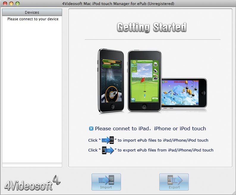 4Videosoft Mac iPod Touch Manager for ePub