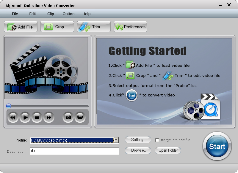 Aiprosoft Quicktime Video Converter