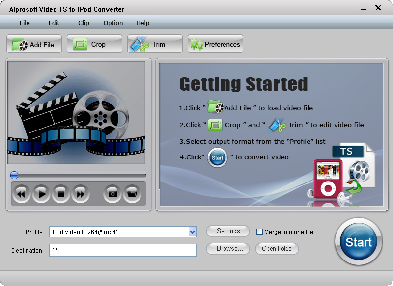 Aiprosoft Video TS to iPod Converter