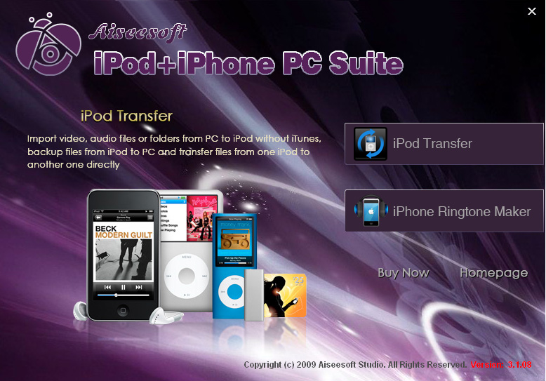 Aiseesoft iPod + iPhone PC Suite