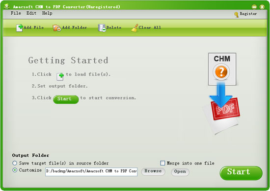 Amacsoft CHM to PDF Converter