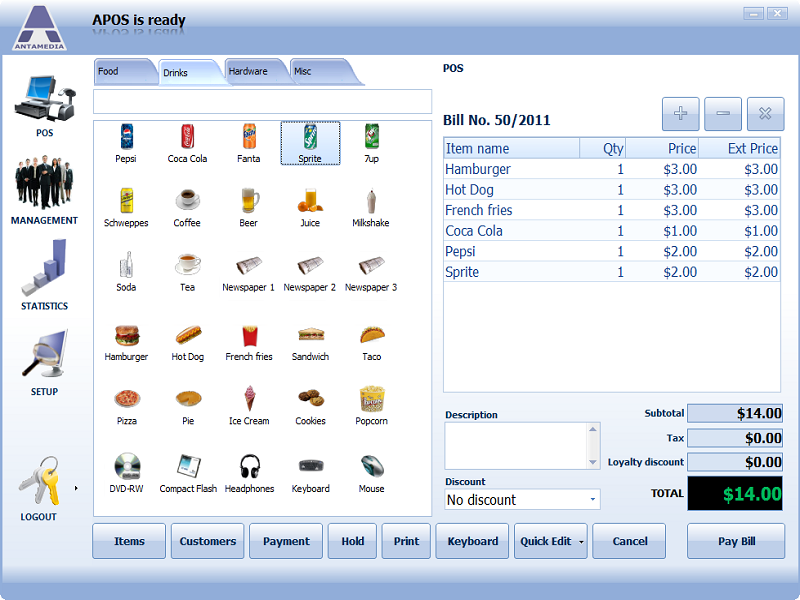 Point Of Sale Software - Standard Edition