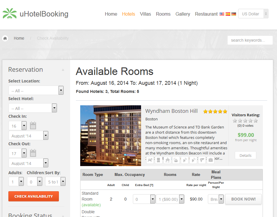 uHotelBooking script + Copyright Removal License