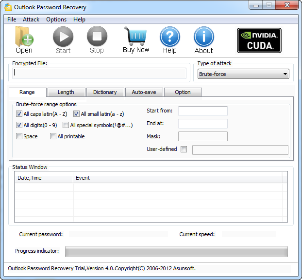 Asunsoft Outlook Password Recovery