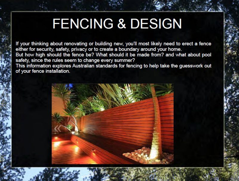 Fencing & Design Book