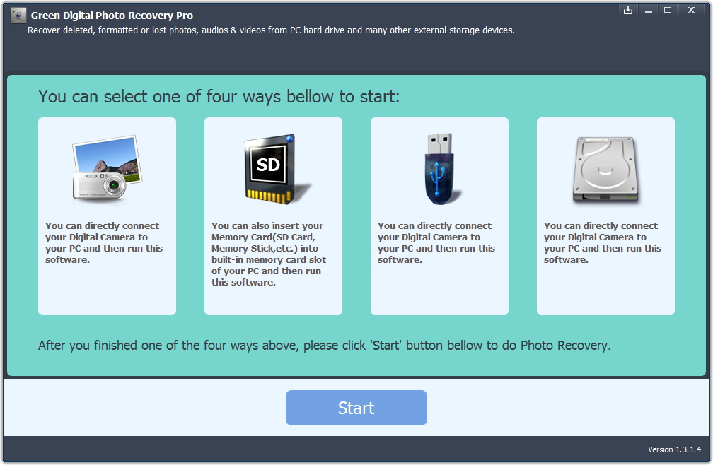 Green Digital Photo Recovery Pro