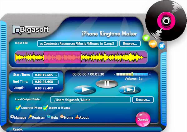 Bigasoft iPhone Ringtone Maker for Mac