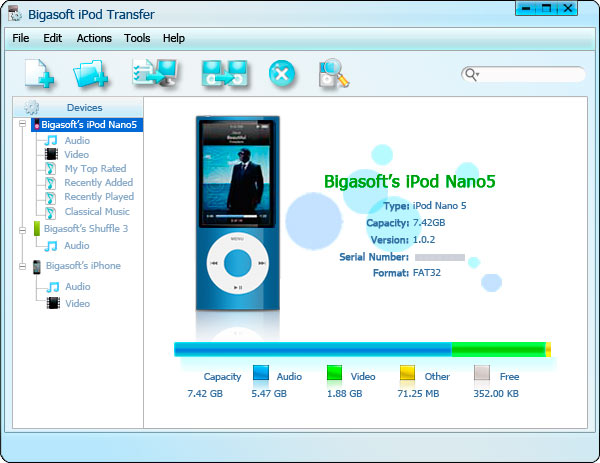 Bigasoft iPod Transfer