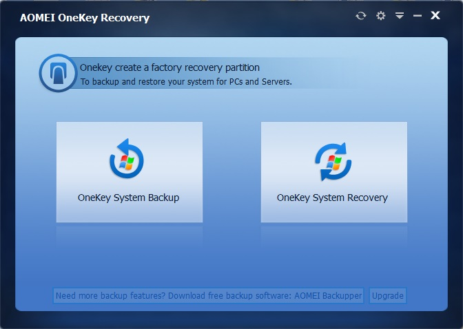 AOMEI OneKey Recovery Professional Edition