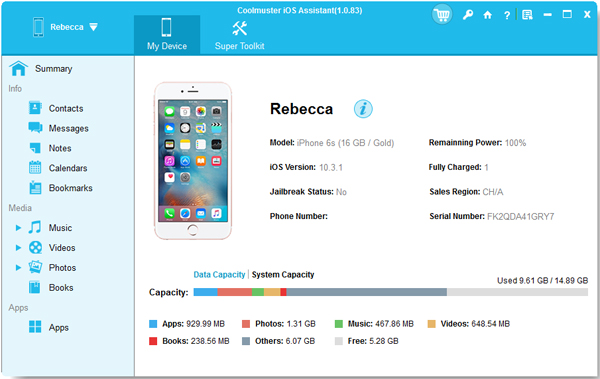 Coolmuster iOS Assistant - 1 Year License(16-20PCs)