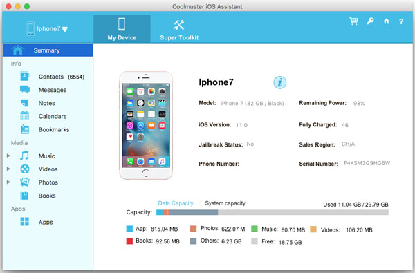 Coolmuster iOS Assistant  for Mac - Lifetime License(6-10PCs)
