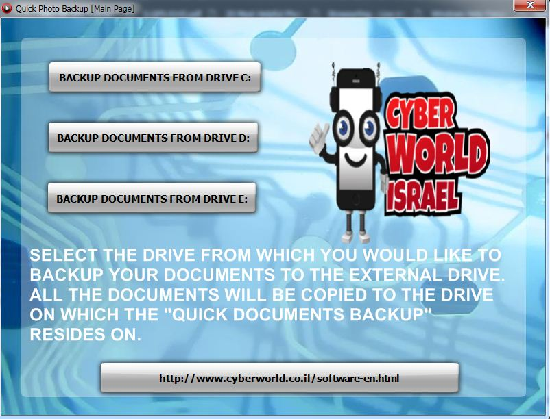 Quck Documents Backup From Hard Drive to External Drive