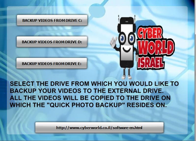Quick Video Backup From Pc to External Drive