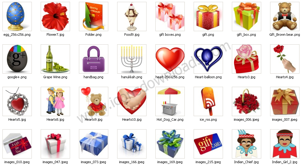 Festival Gifts Icons
