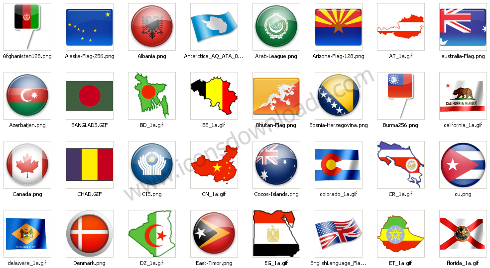 Flags + Maps Icons