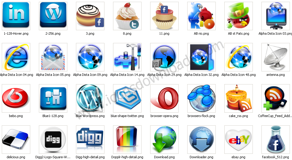 Internet Network Icons