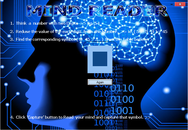 Mind Reader with Full Source Code