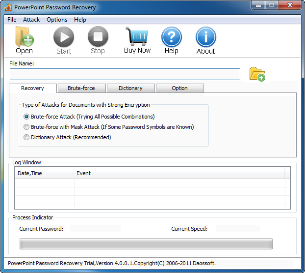 Daossoft PowerPoint Password Recovery