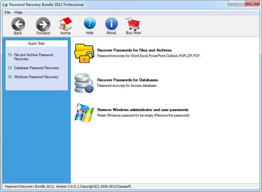 Password Recovery Bundle 2012 Professional
