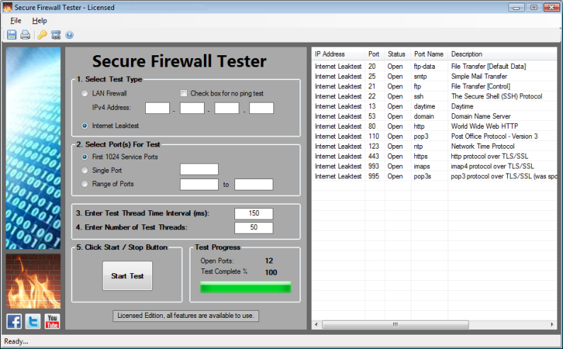 Secure Firewall Tester