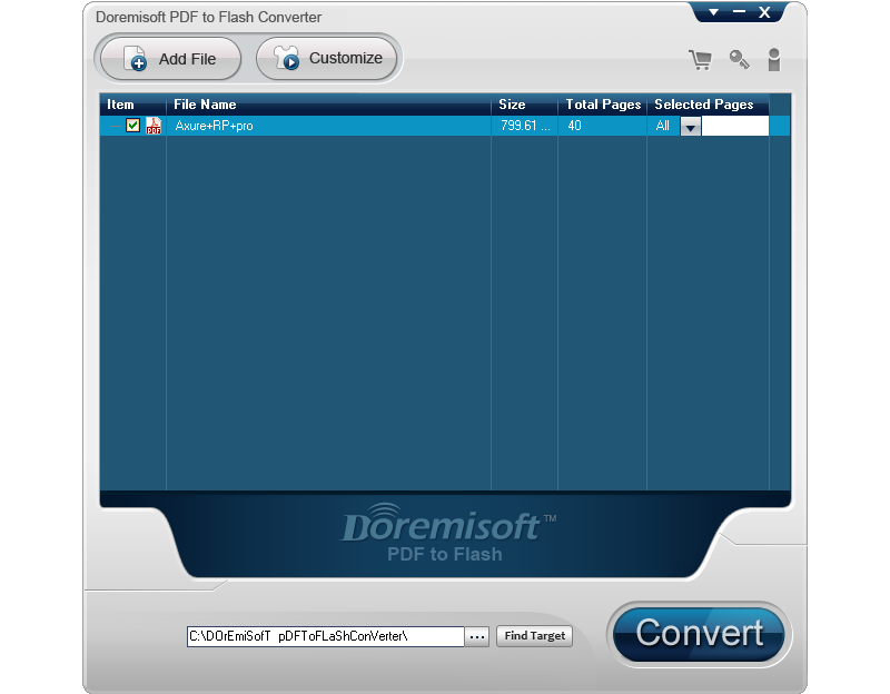 Doremisoft PDF to Flash Converter