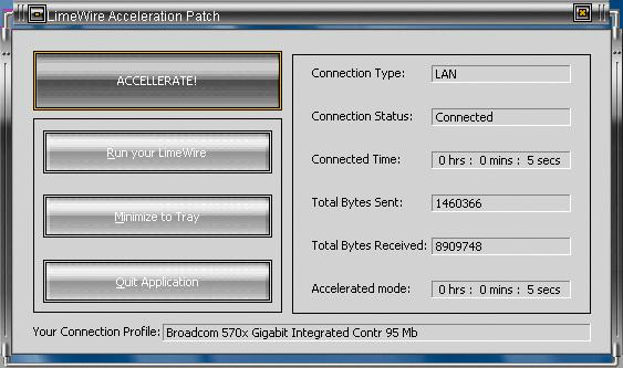LimeWire Acceleration Patch