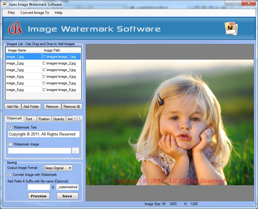 Apex Image Watermark Software - Business License