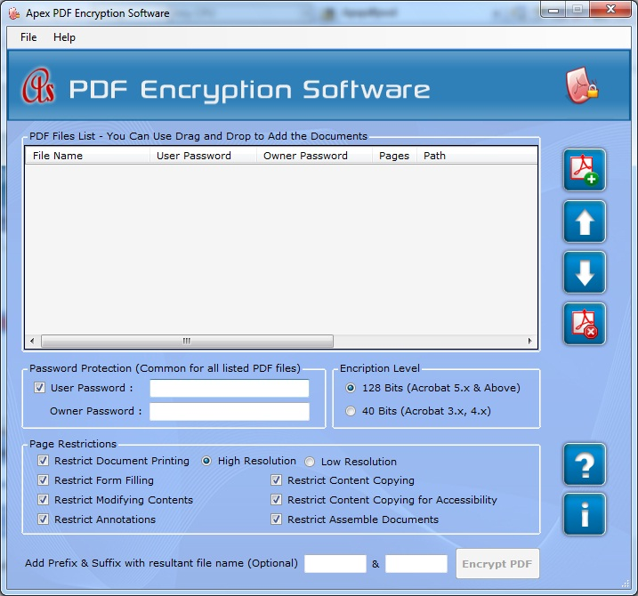 Apex PDF Encryption Software - Business License