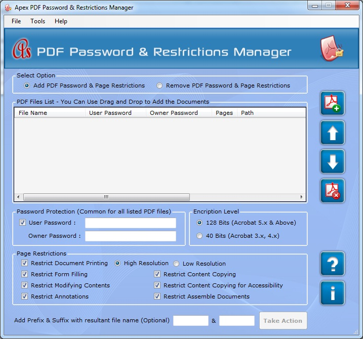 Apex PDF Password & Restrictions Manager - Site License