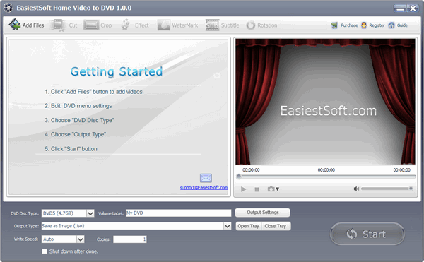 EasiestSoft Home Video to DVD for Windows