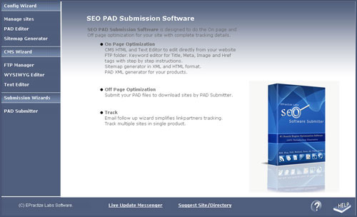 SEO PAD Submission Standard Edition