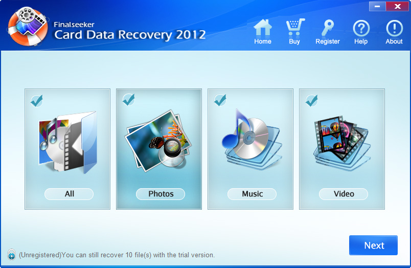 Card Data Recovery 2012 - for Unlimited