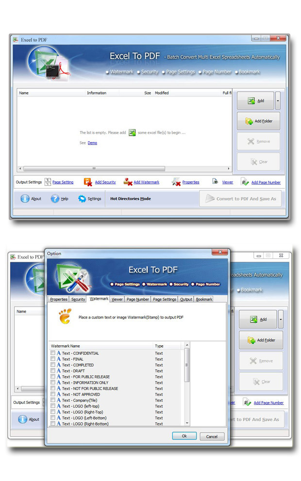 Easy Excel to PDF