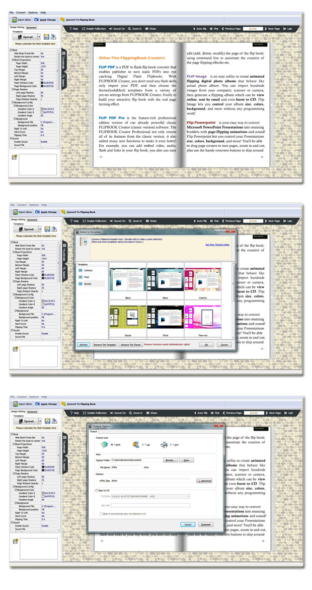 eBook to Flash Page Flip
