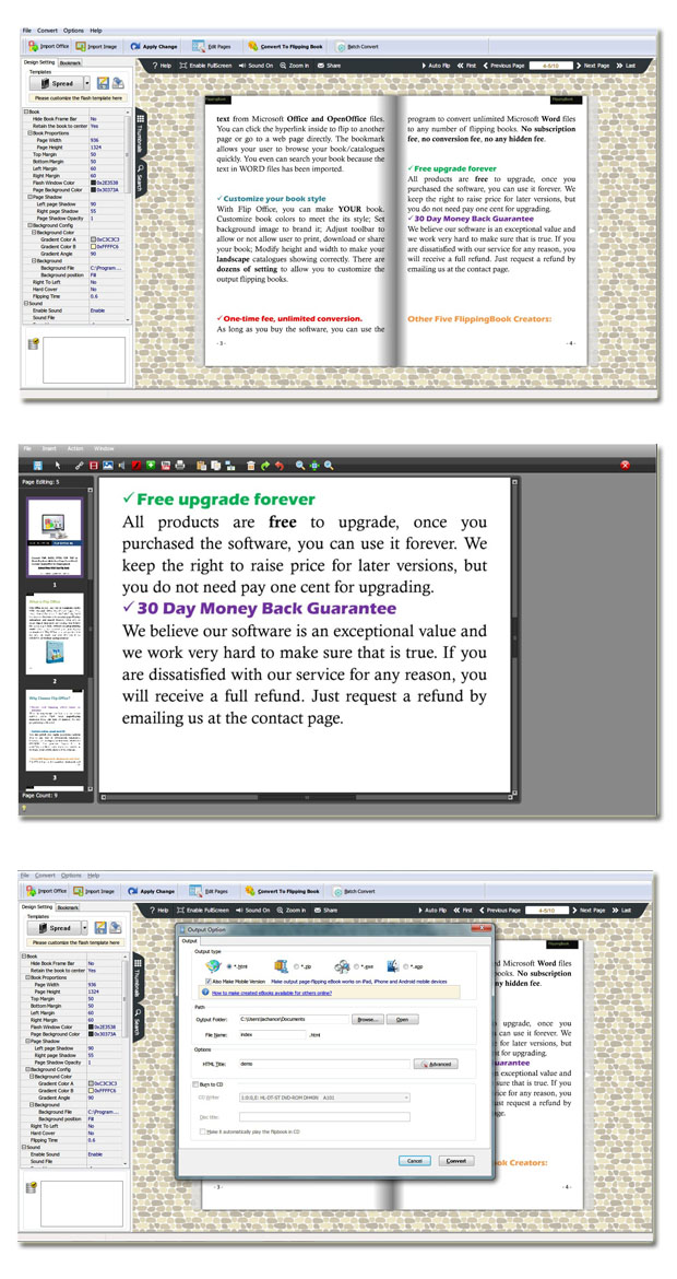 Office to Flash Flipping Book Pro