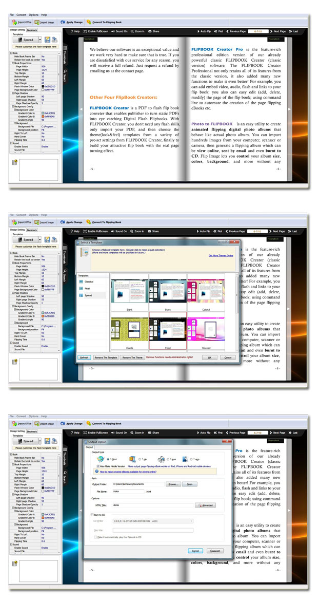 Office to Flash Page Flip