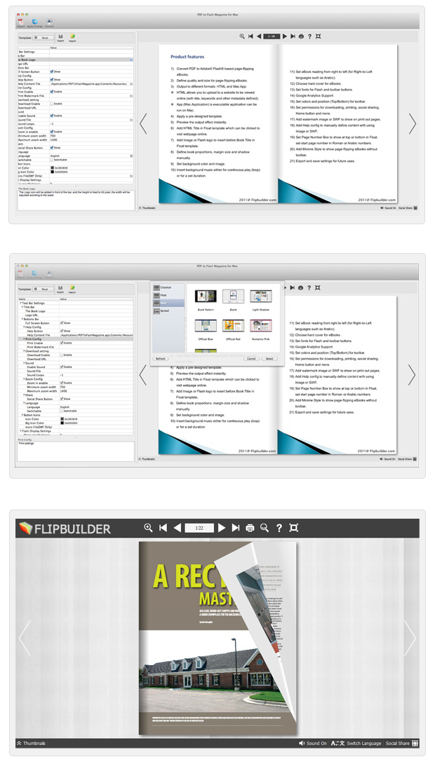 Page Flipping PDF for Mac