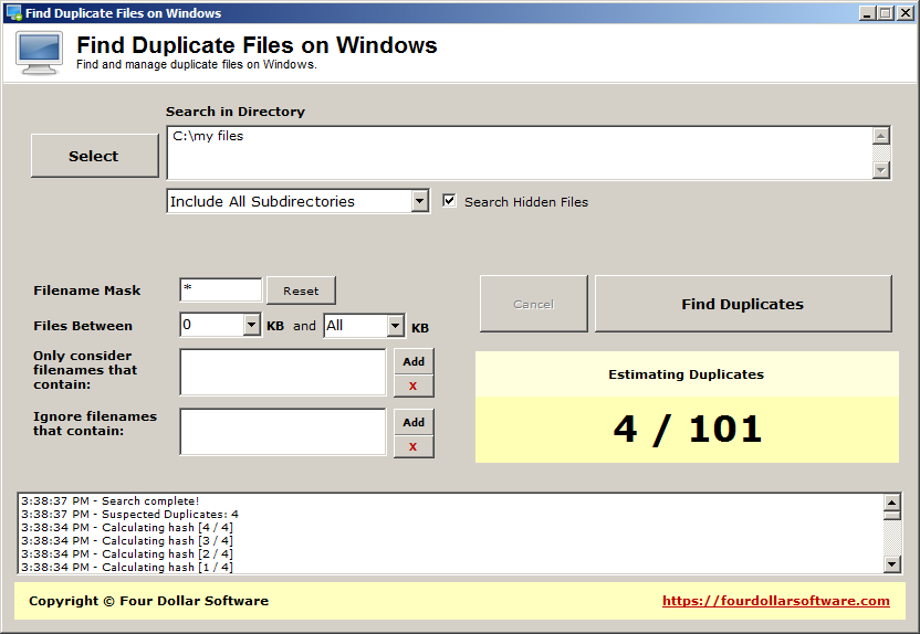 Find Duplicate Files on Windows