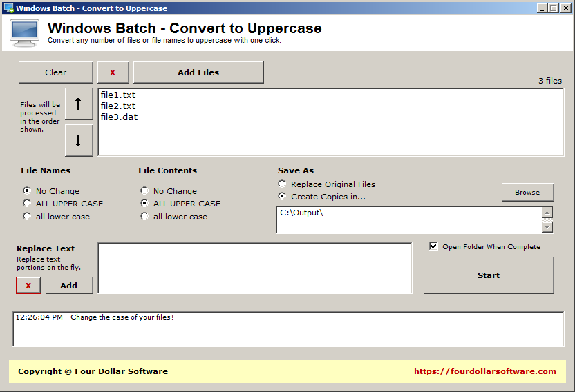 Windows Batch - Convert to Uppercase
