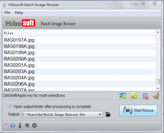 Hibosoft Batch Image Resizer