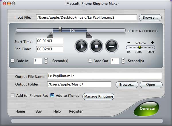 iMacsoft iPhone Ringtone Maker for Mac