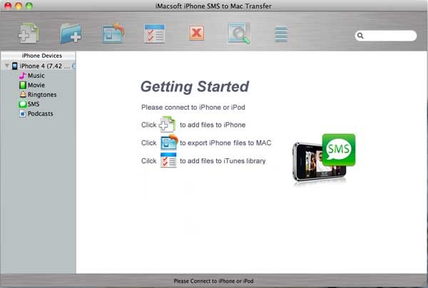 iMacsoft iPhone SMS to Mac Transfer